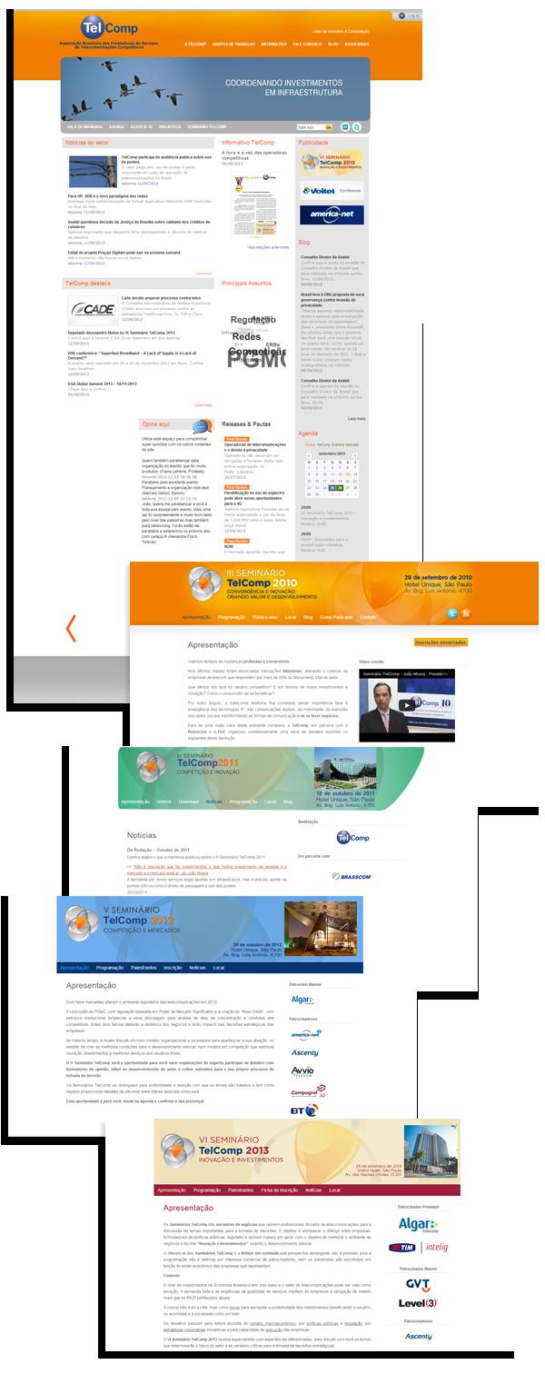 Site TelComp e Seminários