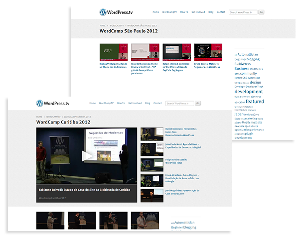 Transmissão e vídeos do WordCamp