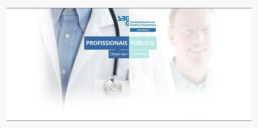 Sociedade Brasileira de Geriatria e Gerontologia do Estado de São Paulo (SBGG-SP) - Página de entrada